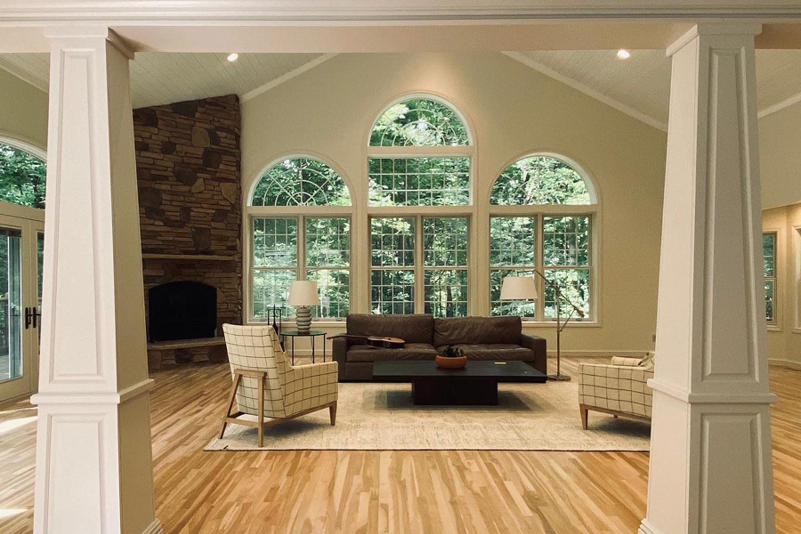 elias construction hardwood in main floor remodel